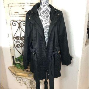 Hilary Radley black hooded jacket